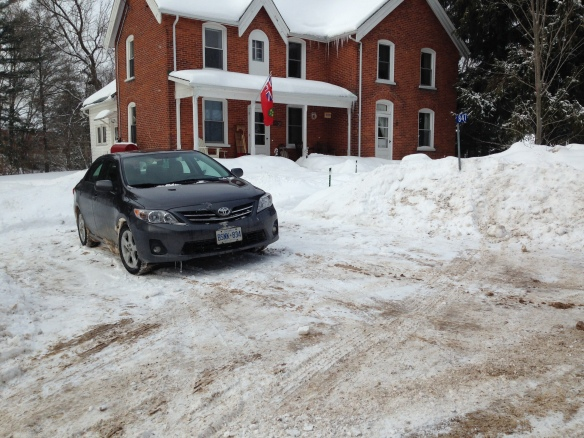 Driveway shovelled