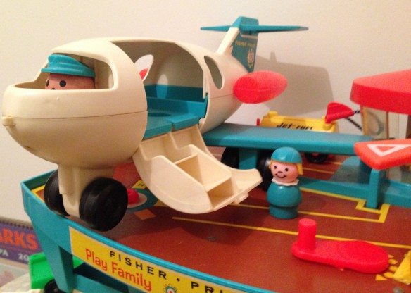 Fisher-Price Airport plane is boarding