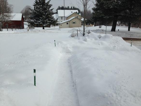 Front walk shovelled