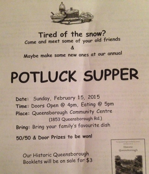 Potluck Supper flyer