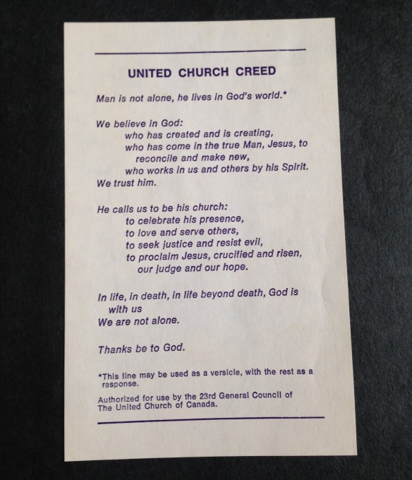 United Church Creed
