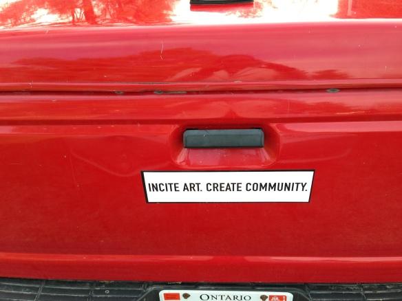 Incite Art bumper sticker