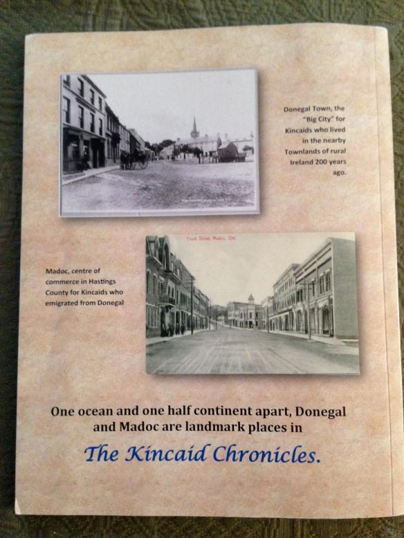 KIncaid Chronicles back cover
