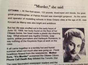 Murder mystery, The Kincaid Chronicles