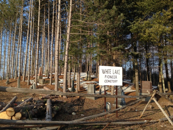 Trees cut at White Lake Pioneer Cemetery
