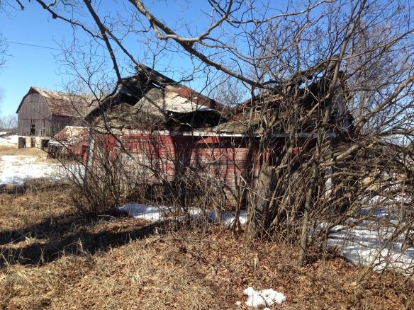 Crumbling garage April 2015