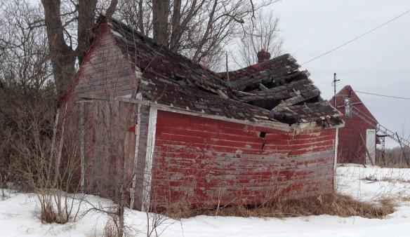 Crumbling garage March 2014