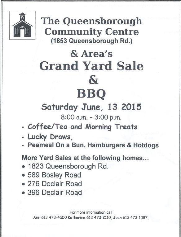 QCC yard sale