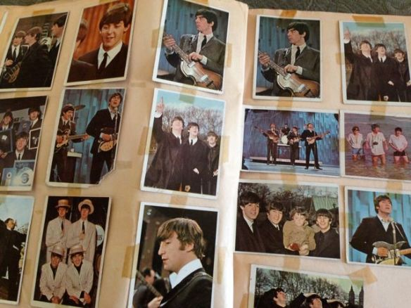 Beatles cards in colour