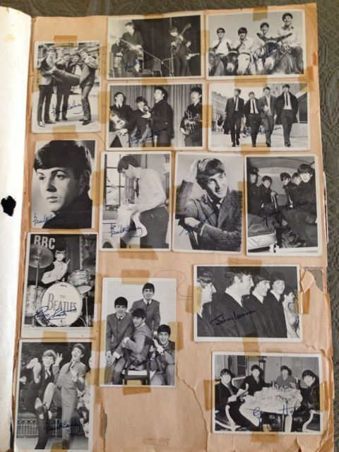 Black-and-white Beatles cards