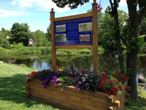 Queensborough history sign July 2015