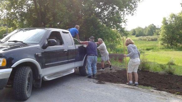 Topsoil at the corner