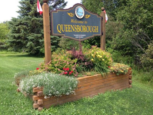 Welcome to Queensborough sign