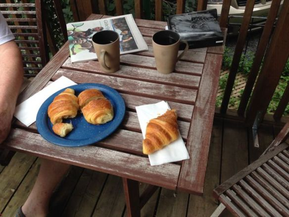 Croissants on the back deck