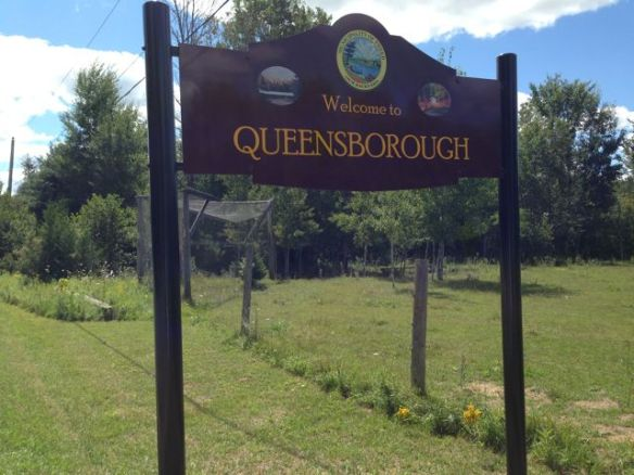 New Queensborough sign front