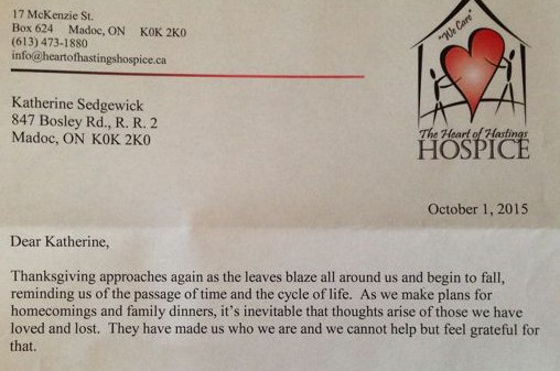 Hospice letter