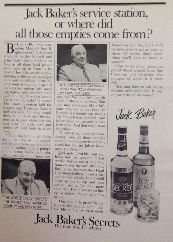 Jack Baker: empties