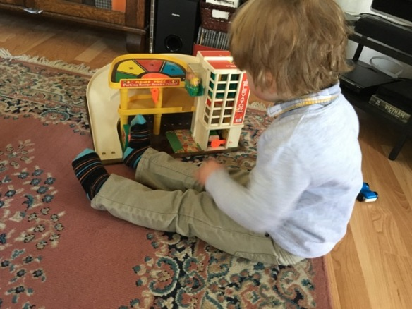 Henry and the Fisher-Price Garage