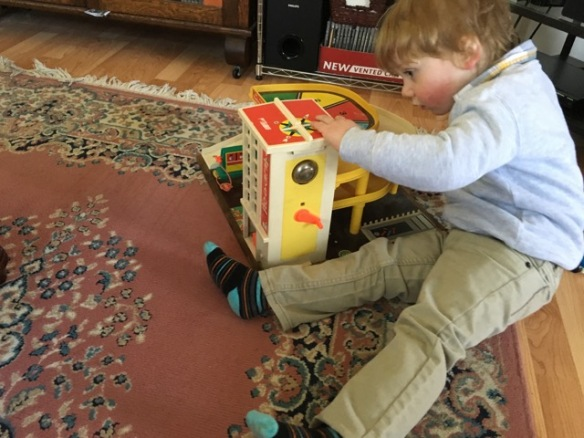 With the Fisher-Price garage