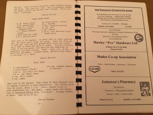 Cooper Cook Book including ads