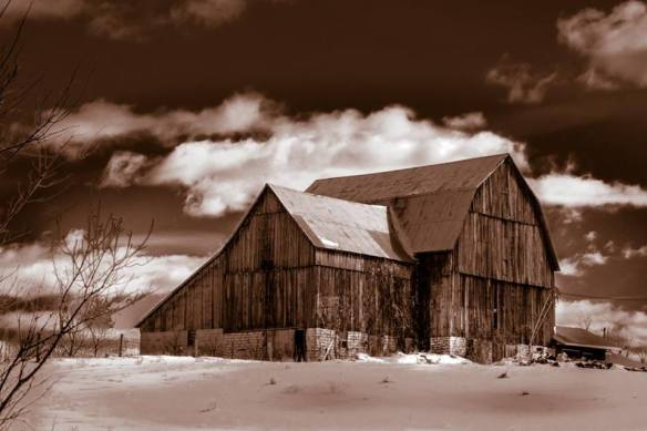 """Local Barn in Black and White,"" Dave deLang"