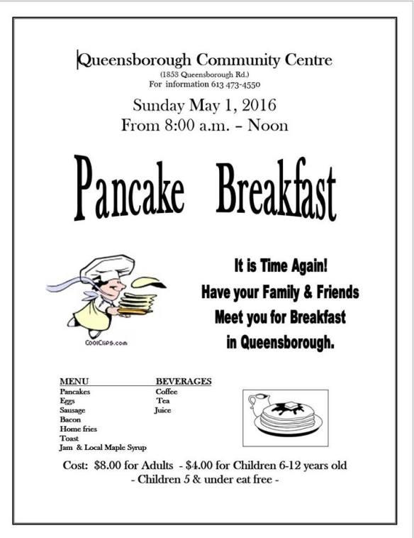 Pancake Breakfast 2016 poster