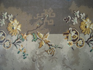 Vintage linoleum mat 1