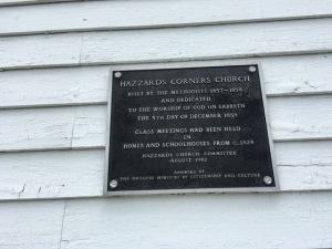 Hazzards Church sign