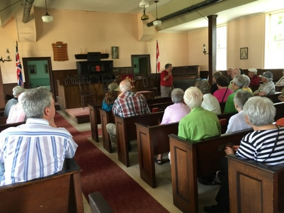 Historical society visit to Hazzards Church