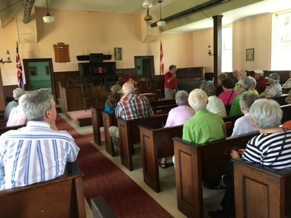 Historical society visit to Hazzards Church
