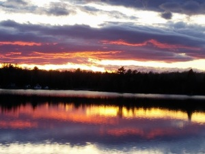 sunset on Steenburg Lake