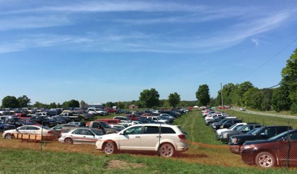 Full parking lot at the plowing match