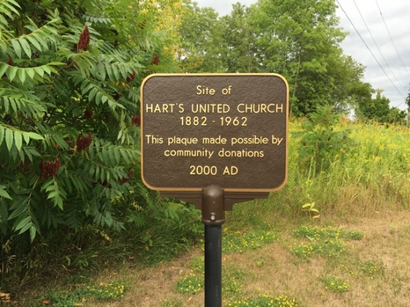 Hart's United Church plaque