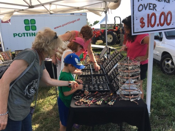 Jewelry booth at the plowing match
