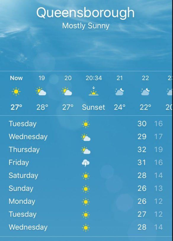 Queensborough weather forecast