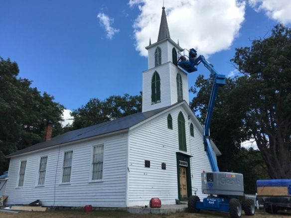 Roofing and painting at Hazzards Church