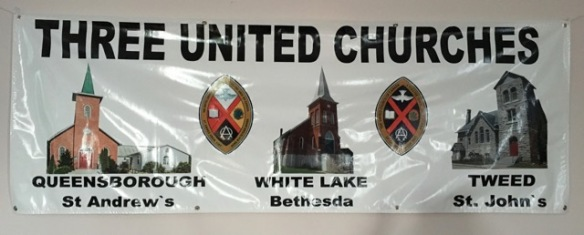 Three United Churches banner