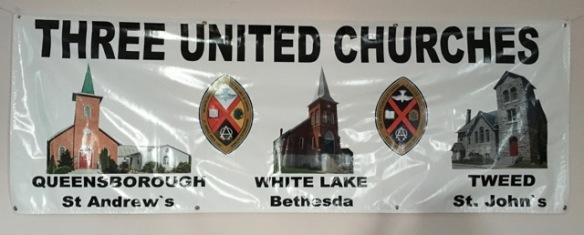 Three United Churches banner