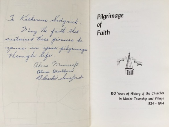 Title page and dedication, Pilgrimage of Faith