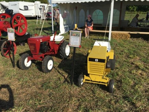 Vintage garden tractors