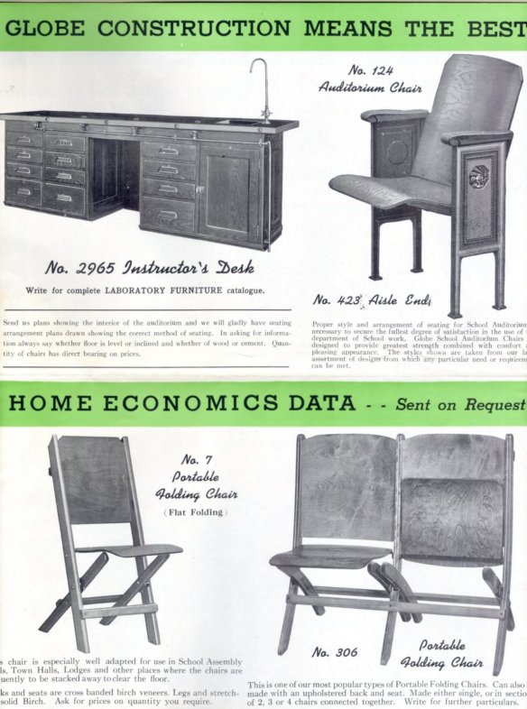 Ad for No. 7 folding chair