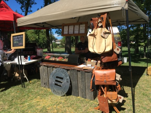 Leather bags from Enright Cattle Company at Feast from Farm 2016
