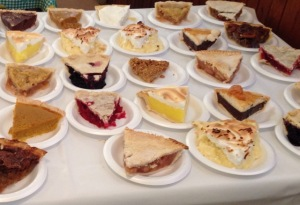 Pies at the church supper