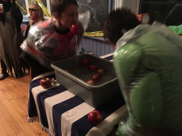 A bobbing for apples win