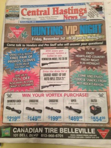 Hunting ad in the local paper