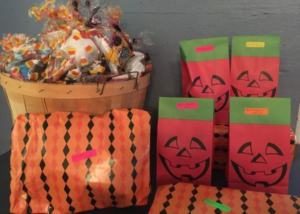 Treat bags and costume prizes