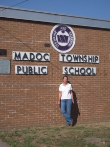 Me in front of Madoc Township Public School
