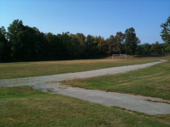 Soccer field at Madoc Township Public School