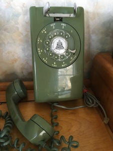 Avocado-green phone