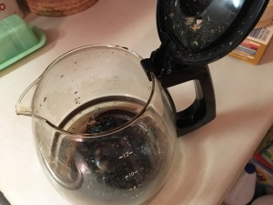 Burned coffee pot